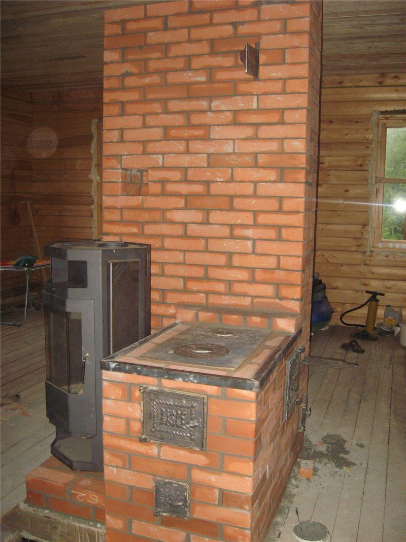 189Теплая печь кирпичная